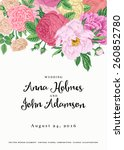 vector vintage floral wedding... | Shutterstock .eps vector #260852780