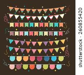 various design of colorful... | Shutterstock .eps vector #260855420