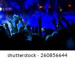 people taking  during a music... | Shutterstock . vector #260856644