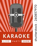 Karaoke Party. Vintage Poster.