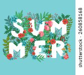 """vector card with word """"summer""""... 