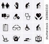 pensioner and elderly care... | Shutterstock .eps vector #260860310