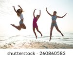friendship  summer vacation ... | Shutterstock . vector #260860583