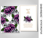 wedding invitation cards with... | Shutterstock .eps vector #260864840