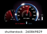 Abstract Car Speedometer...