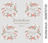 wedding card or invitation with ... | Shutterstock .eps vector #260870720