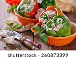 Colorful Bell Peppers Stuffed...