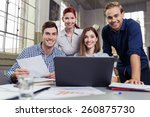 successful motivated group of... | Shutterstock . vector #260875730