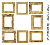 antique frame on the white... | Shutterstock . vector #260881520