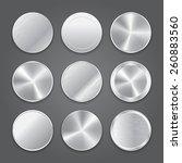 metal badge icons. vector | Shutterstock .eps vector #260883560