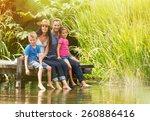 in summertime  portrait of an... | Shutterstock . vector #260886416