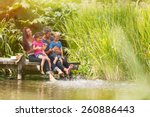 summertime  portrait of an... | Shutterstock . vector #260886443