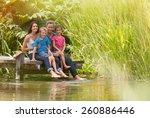 in summertime  portrait of an... | Shutterstock . vector #260886446