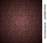 seamless background with ornate ... | Shutterstock .eps vector #260887400