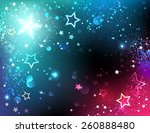 Bright Space Background With...