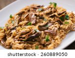 wild mushrooms risotto with... | Shutterstock . vector #260889050