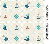 baby sea seamless pattern.... | Shutterstock .eps vector #260890043