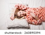 morning beautiful girl woke up... | Shutterstock . vector #260890394