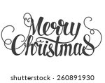 Merry Christmas Hand Lettering...