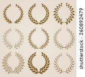 set of vector golden laurel...   Shutterstock .eps vector #260892479