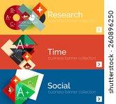 flat design paper infographic... | Shutterstock .eps vector #260896250