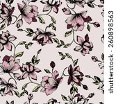 seamless floral pattern.... | Shutterstock .eps vector #260898563