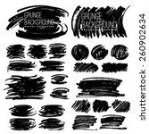 set of grunge marker stains | Shutterstock .eps vector #260902634