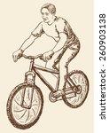 bicyclist | Shutterstock .eps vector #260903138