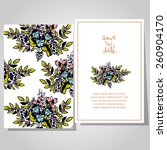 wedding invitation cards with... | Shutterstock .eps vector #260904170