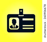 identification card icon. flat... | Shutterstock .eps vector #260906678