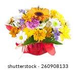 beautiful bouquet of gerbera ... | Shutterstock . vector #260908133