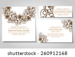 wedding invitation cards with... | Shutterstock .eps vector #260912168
