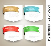 sale label blank paper with... | Shutterstock .eps vector #260914904