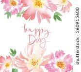 spring flowers. illustration ... | Shutterstock .eps vector #260915600