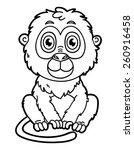 funny monkey. vector... | Shutterstock .eps vector #260916458