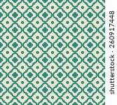 green quatrefoil vector pattern.... | Shutterstock .eps vector #260917448