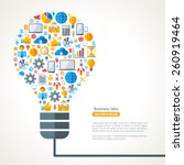 light bulb with business icons... | Shutterstock .eps vector #260919464