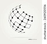 vector globe icon | Shutterstock .eps vector #260920556