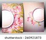 spring flowers invitation... | Shutterstock .eps vector #260921873
