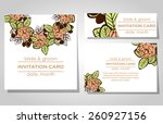 wedding invitation cards with... | Shutterstock .eps vector #260927156
