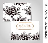 wedding invitation cards with... | Shutterstock .eps vector #260927210