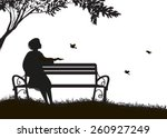 Girl  Sitting On The Bench...
