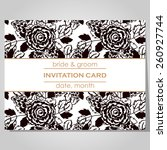 wedding invitation cards with... | Shutterstock .eps vector #260927744