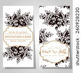 wedding invitation cards with... | Shutterstock .eps vector #260928230