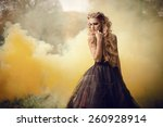 portrait of a beautiful girl in ... | Shutterstock . vector #260928914