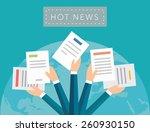 hot news concept vector... | Shutterstock .eps vector #260930150