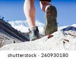 hiking boots in outdoor action | Shutterstock . vector #260930180