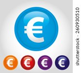 the currency sign of european... | Shutterstock .eps vector #260930510