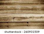 wooden slats background,sepia vintage style image - stock photo