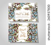 wedding invitation cards with... | Shutterstock .eps vector #260937830